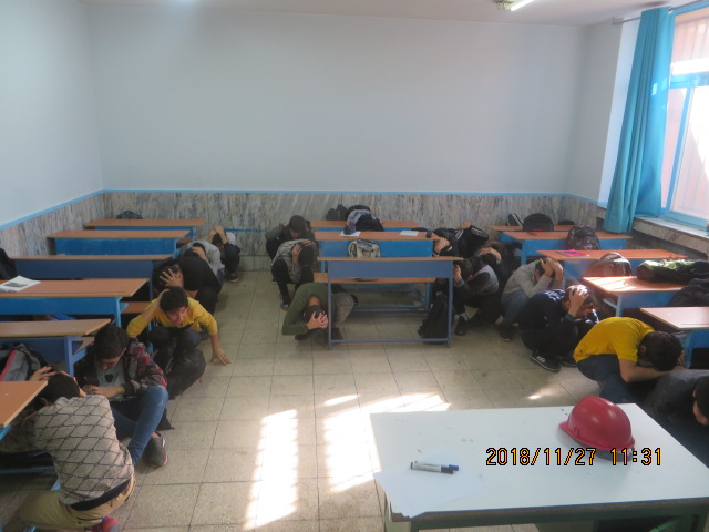 برگزاری مانور زلزله مدارس