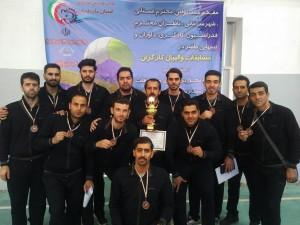 کسب مقام سومی مسابقات قهرمانی والیبال دست دو کارگران کشور