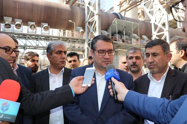 گزارش تصویری بازدید وزیر محترم صنعت ، معدن و تجارت از شرکت سیمان آبیک